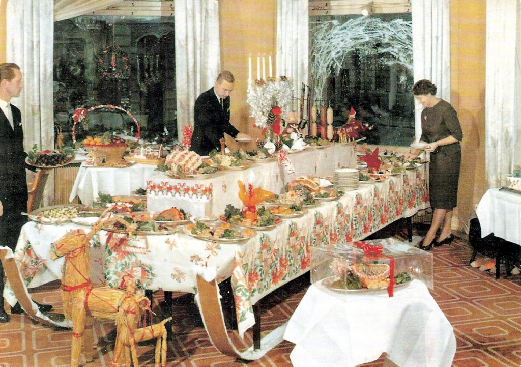 Julbord på Karlskrona Stadshotell kring 1960