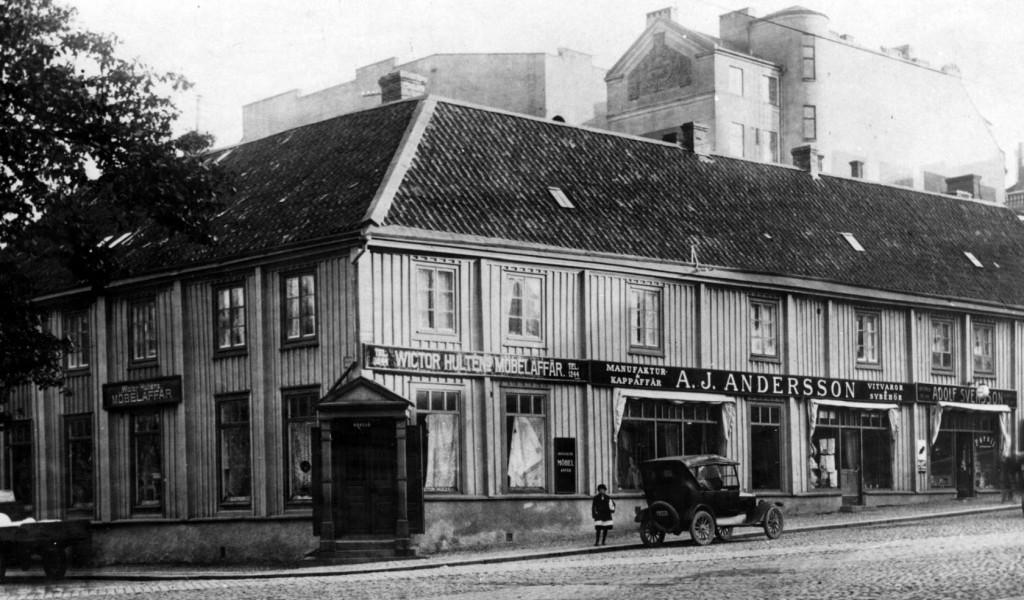 Landbrogatan med A.J. Anderssons i gamla tider