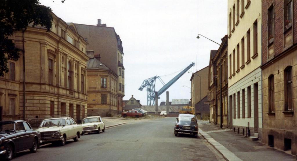 Västerudden just innan teatern revs 1972
