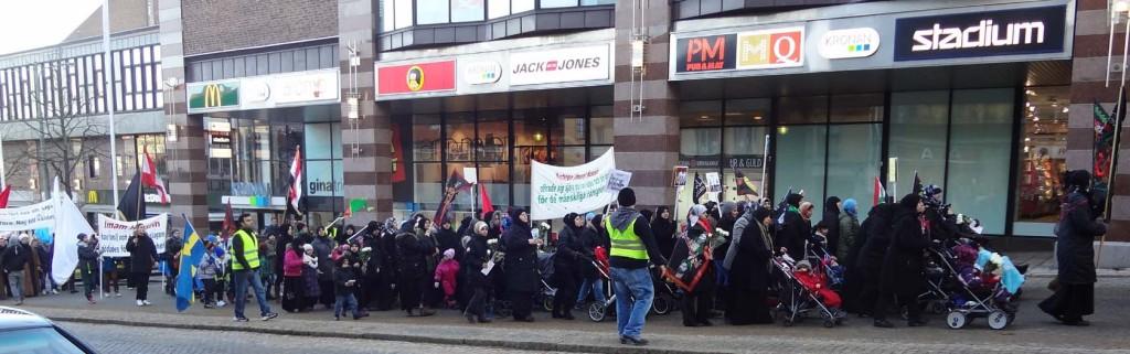 """Manifestation för """"martyr"""" i Karlskrona"""