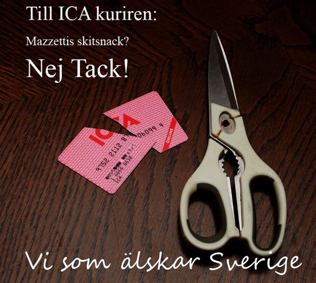 "Många klipper ICA-kort efter ""Mazettigate"""