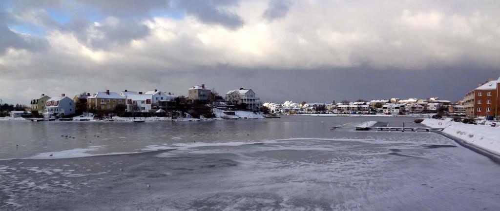 Fint vinterväder kring Långö