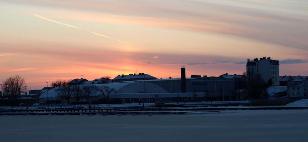 "Dagens solnedgång i ""staun"""