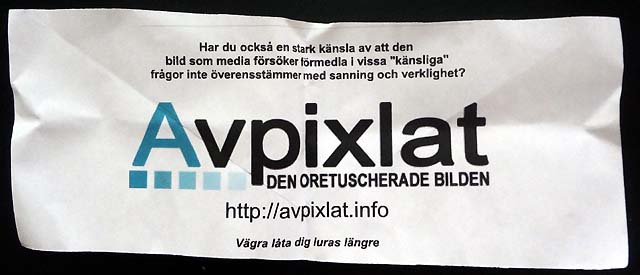 Avpixlat-information på Alamedan!