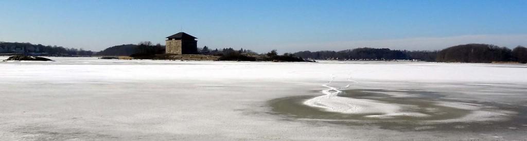 Fina mönster på isen