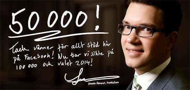 Sverigedemokraterna jubilerar på Facebook
