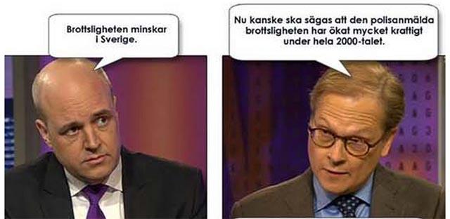 Fredrik Reinfeldt om brottsutvecklingen