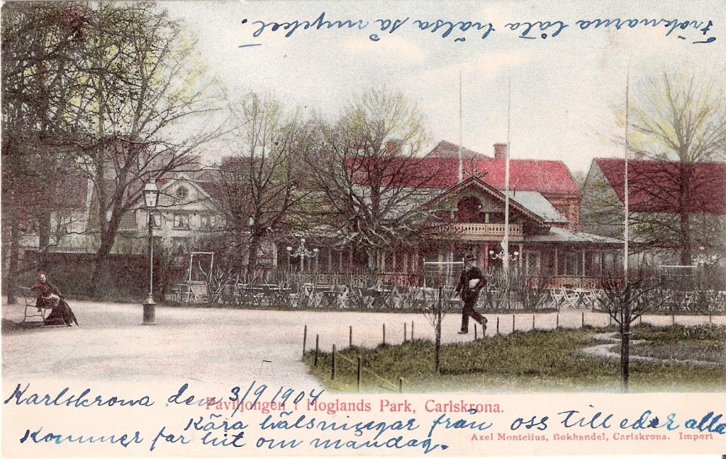 Hoglands park för 100 år sedan