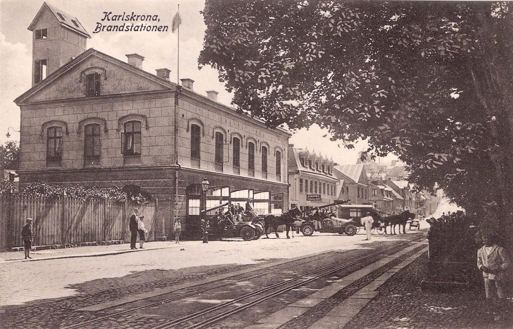 Brandstationen cirka 1915
