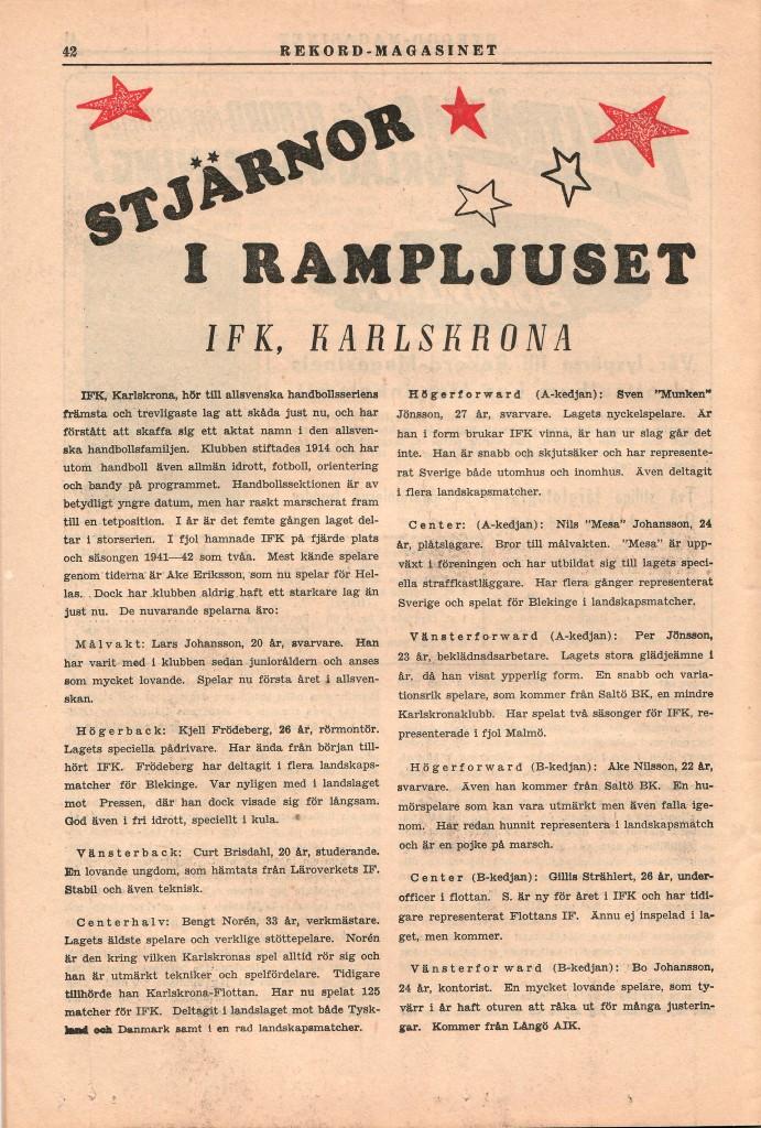 IFK Karlskrona säsongen 1943/44