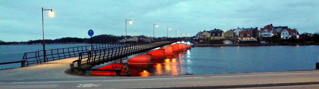 Långöbron i kvällsljus
