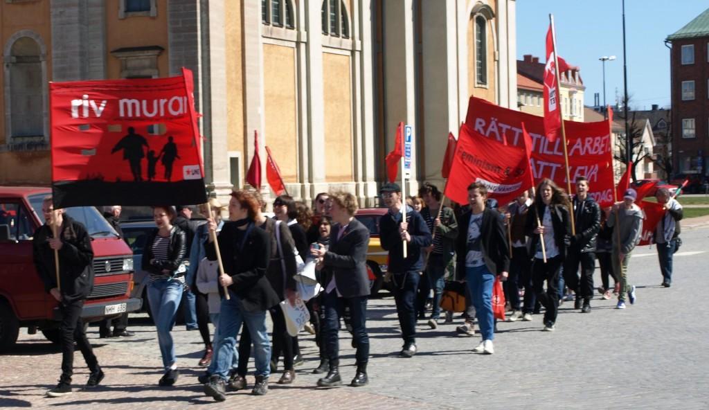 Vänsterpartiets 1 maj 2013 i Karlskrona