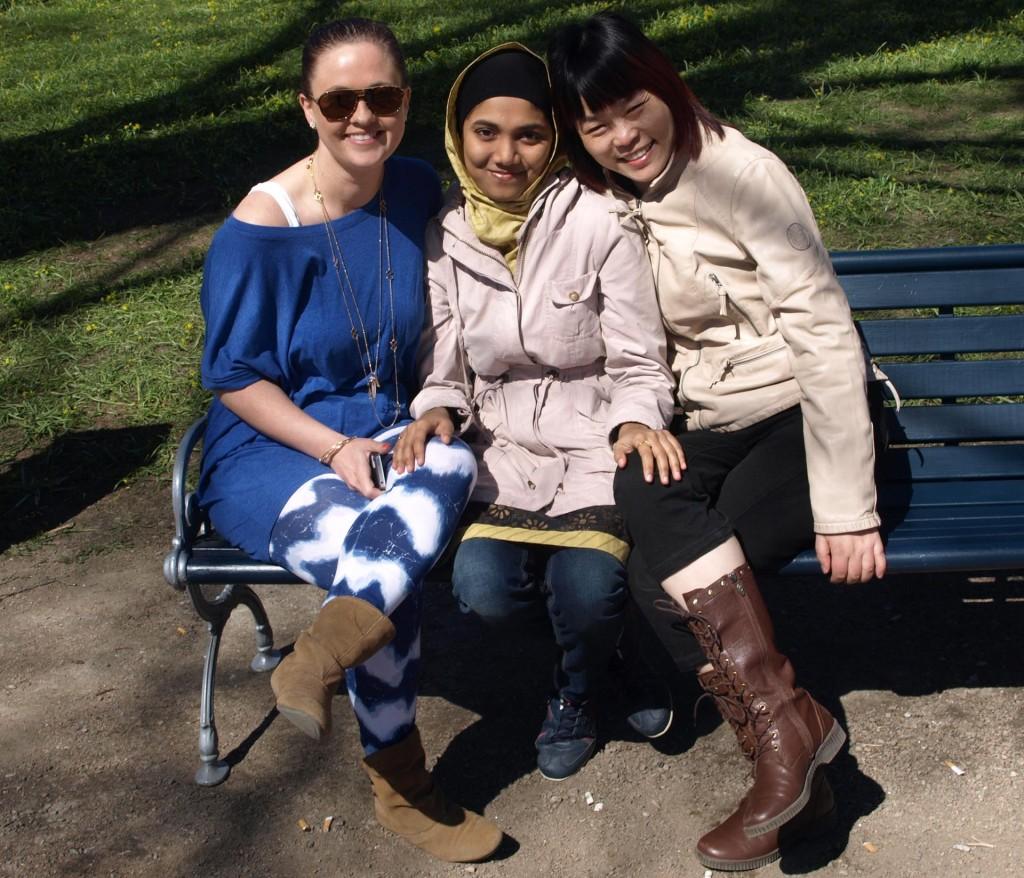 Härlig vårsol i Hoglands park