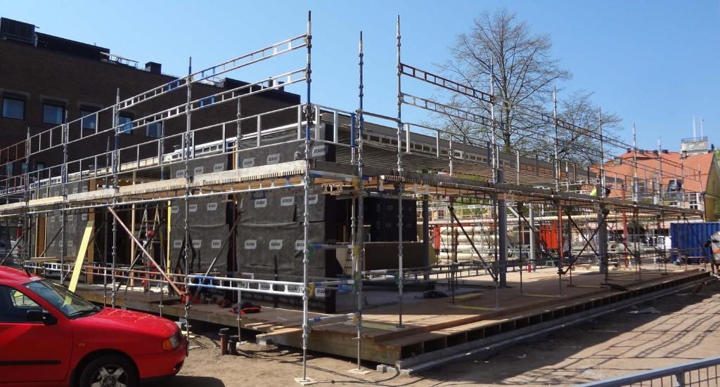 Bygget i Hoglands park fortsätter!