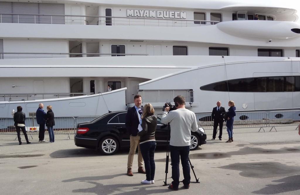 Mayan Queen IV på besök i Karlskrona 2013-05-10