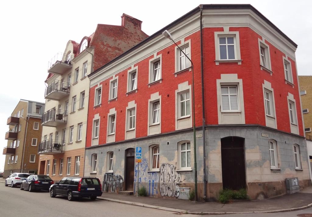 Anrikt hus på Varvsgatan