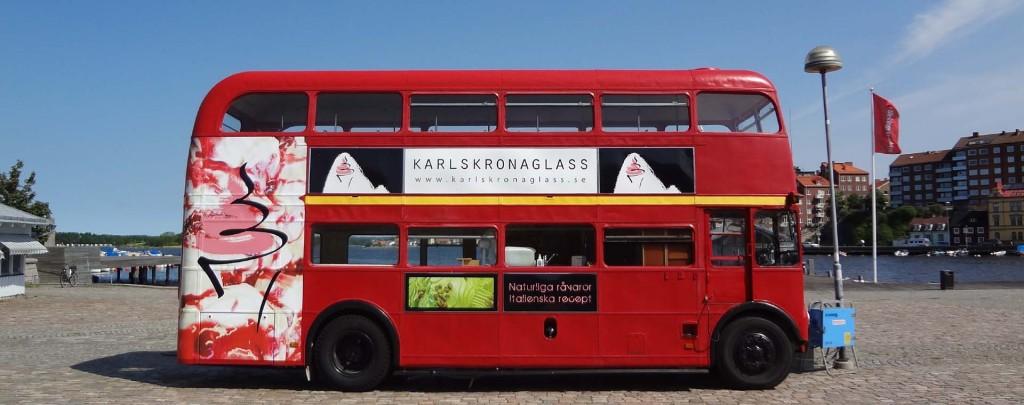 Glassbussen på Fisktorget!