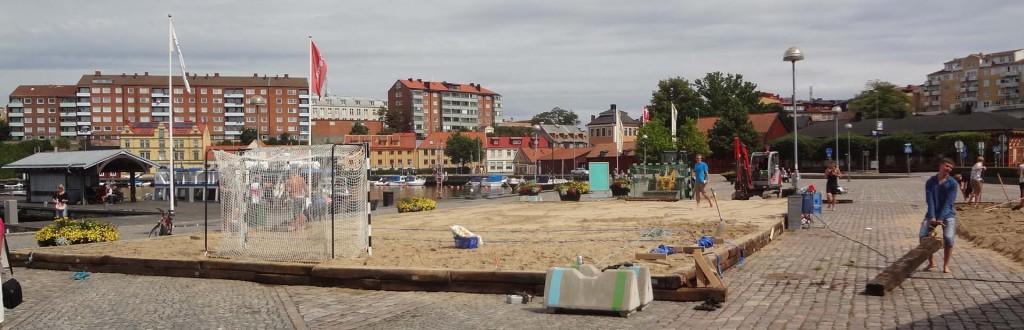 Beachhandboll på gång!