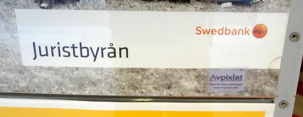Juristbyrån på Swedbank och Avpixlat