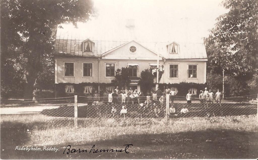 Branden i barnhemmet i Rödebyholm 1944