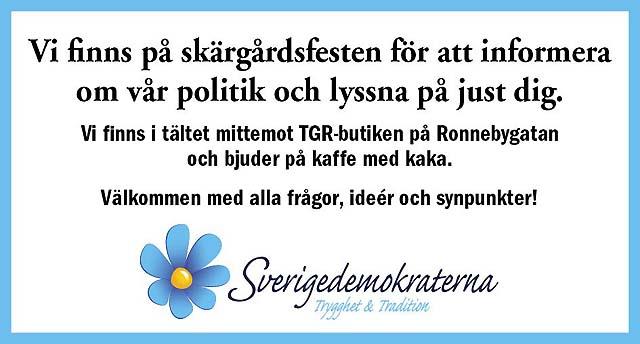 Sverigedemokraterna på Karlskrona Skärgårdsfest
