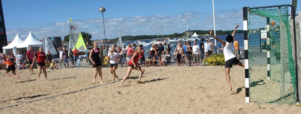 Beachhandboll på Fisktorget