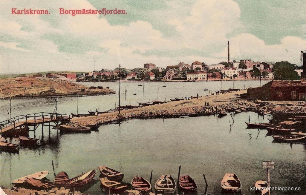 Borgmästarefjärden - före utfyllnad vid Björkholmsplan