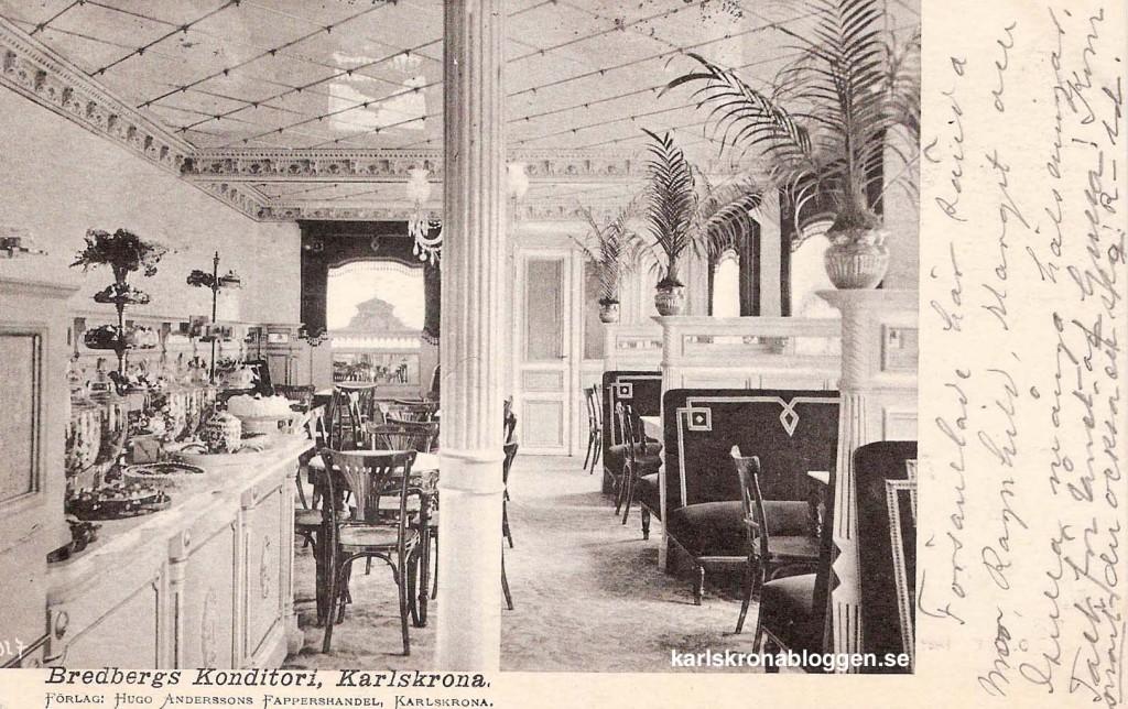 Bredbergs konditori på Landbrogatan omkring år 1900!