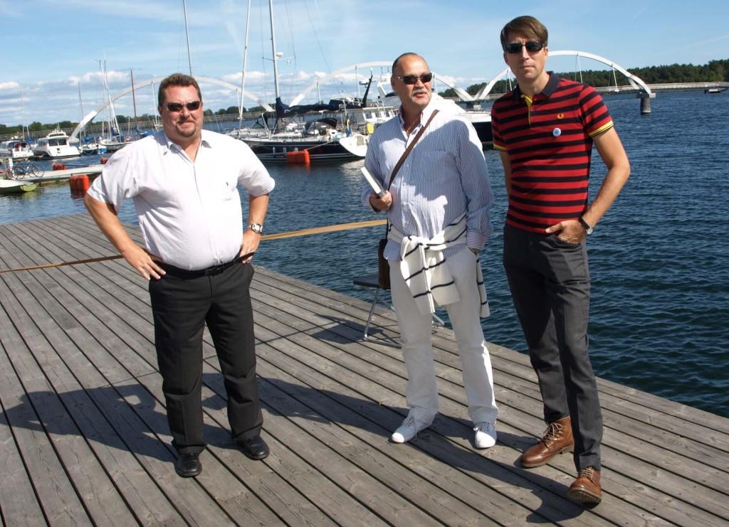 Tre Sverigedemokrater som jobbar för ett bättre Sverige just innan partiledare Jimmie Åkessons sommartal i Sölvesborg den 24 augusti 2013!