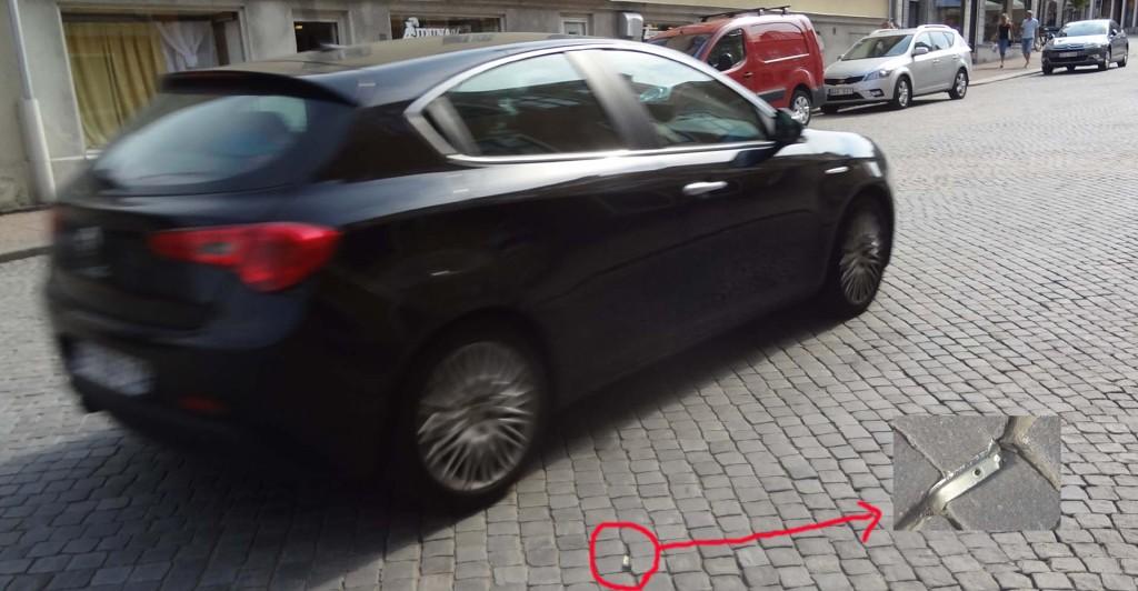Risk för punktering på Borgmästaregatan