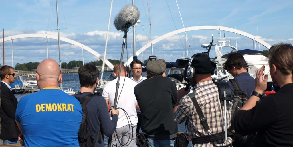 Jimmie Åkesson träffar representanter från gammelmedierna efter sommartalet