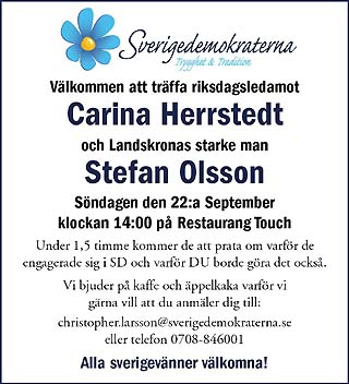Sverigedemokraterna 22 september 2013