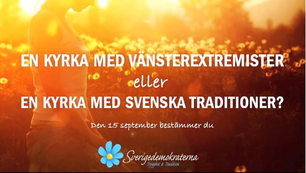 En kyrka med vänsterextremister eller en kyrka med svenska traditioner