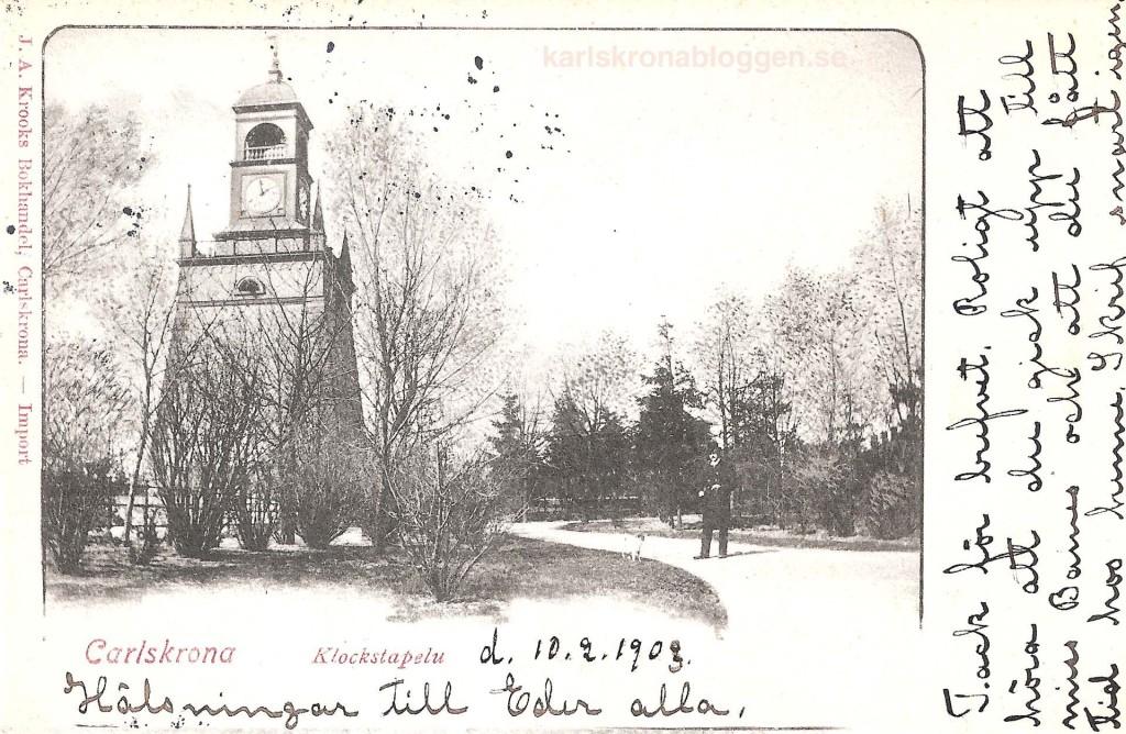 Klockstapeln år 1903