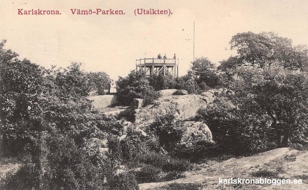 Utsiktstornet på Wämö för hundra år sedan