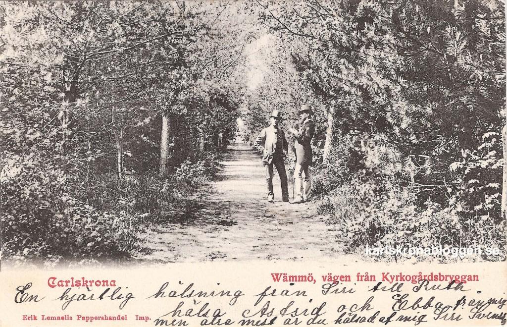 Wämmö - Vägen från kyrkogårdsbryggan