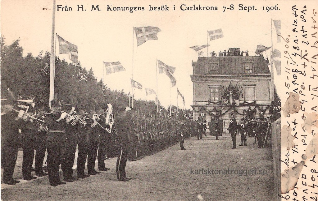 Oscar II:s sista besök i Karlskrona 1906