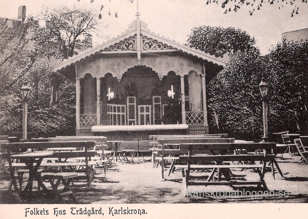 Folkets Hus trädgård 1900