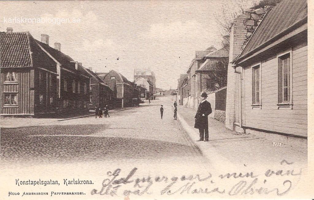 Konstapelsgatan 1903 med Hugo Andersson