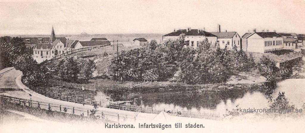 Infartsvägen till Karlskrona omkring år 1900