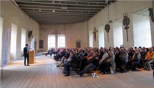 Jimmie Åkesson talar i Gröna salen på Kalmar slott. Foto Thoralf Alfsson