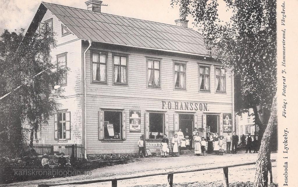 F.O. Hanssons affär i Beseboda, Lyckeby