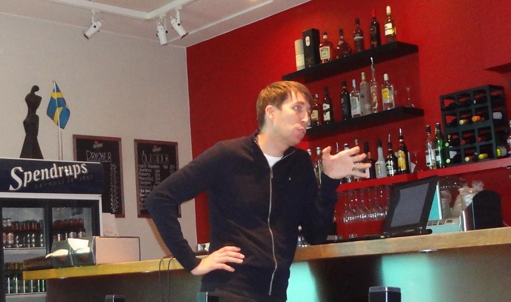 Richard Jomshof föreläste på Restaurang Touch