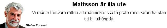 Mattsson är illa ute