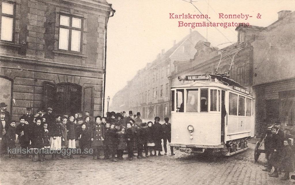 Provkörning av spårvagnarna 1910