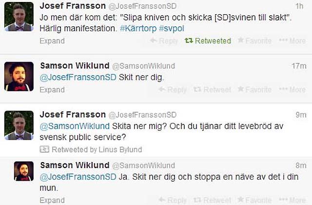 Public service vs. Josef Fransson