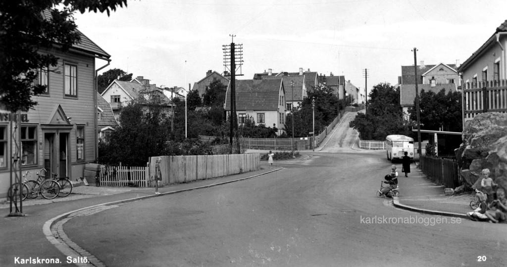 Saltövägen cirka 1950