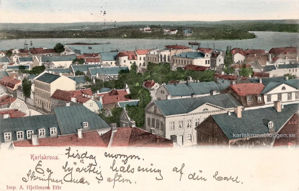 Utsikt över staun 1904
