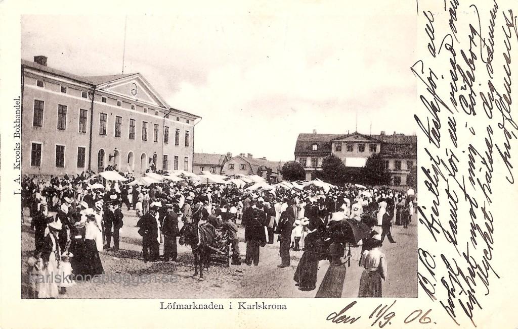 Lövmarknad före 1905