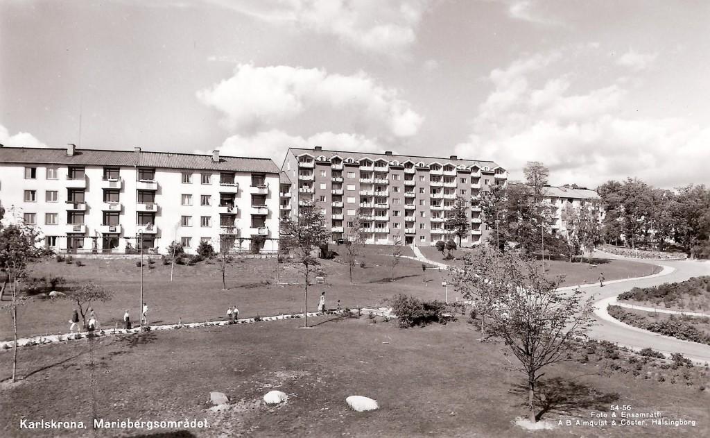 Mariebergsområdet kring 1955